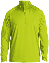 Aids Research Half Zip Raglan Performance Pullover