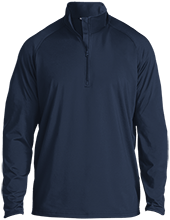 Lansing Eastern High School Quakers Half Zip Raglan Performance Pullover