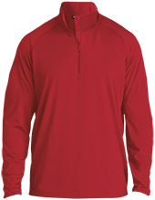 Fort Hill Elementary School Hawks Half Zip Raglan Performance Pullover