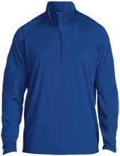 Milford Middle School Buccaneers Half Zip Raglan Performance Pullover