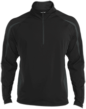UNC - Pembroke Braves Mens Sport Wicking Colorblock Half-Zip
