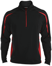 Fort Hill Elementary School Hawks Mens Sport Wicking Colorblock Half-Zip