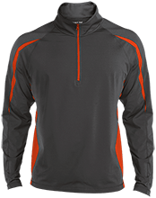 John Simpson Middle School Tygers Mens Sport Wicking Colorblock Half-Zip