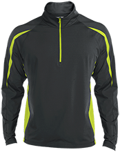 Bennett Woods Elementary School Trailblazers Mens Sport Wicking Colorblock Half-Zip