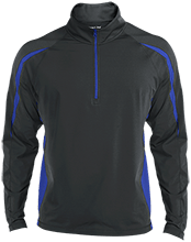 Milford Middle School Buccaneers Mens Sport Wicking Colorblock Half-Zip