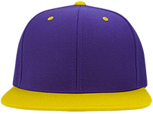 Blue Springs High School Wildcats Flat Bill High-Profile Snapback Hat
