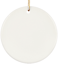 Milton High School Panthers Ceramic Circle Ornament