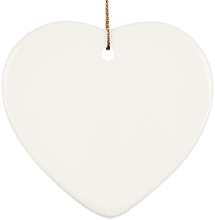 Lansing Eastern High School Quakers Ceramic Heart Ornament