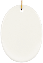 Ceramic Oval Ornament