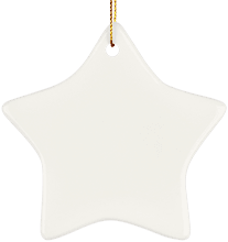 Manchester East Soccer Ceramic Star Ornament