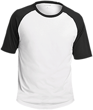 McCormick Middle School-Huron Tigers Adult SS Colorblock Raglan Jersey