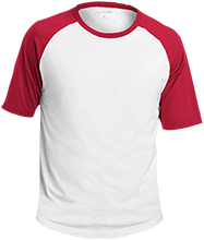 HTR Christian School Indians Adult SS Colorblock Raglan Jersey