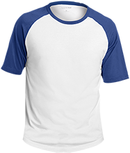 Shore Regional High School Blue Devils Adult SS Colorblock Raglan Jersey
