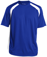 Shoals High School Jug Rox Mens Performance Colorblock T-Shirt