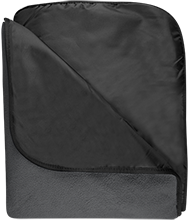 Clarke School for the Deaf School Fleece & Poly Travel Blanket