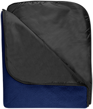 Bartlesville High School Bruins Fleece & Poly Travel Blanket