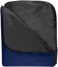 North Sunflower Athletics Fleece & Poly Travel Blanket