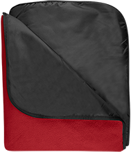 Edison Middle School Lighting Bolts Fleece & Poly Travel Blanket