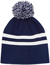 Hibbett Middle School Hawks Team 365 Striped Pom Beanie