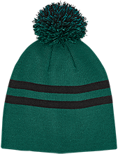 The Computer School Terrapins Team 365 Striped Pom Beanie