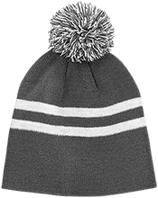 Friendtek Game Design Team 365 Striped Pom Beanie