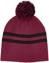 Hamilton Elementary School Wildcats Team 365 Striped Pom Beanie