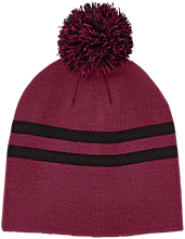 West Side Pirates Athletics Team 365 Striped Pom Beanie