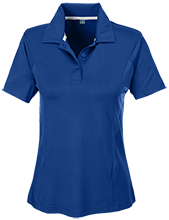 Milnor High School Bison Team 365 Ladies Solid Performance Polo