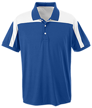 Baker Elementary School Bobcats Team 365 Colorblock Polo