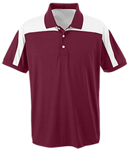 Nutley High School Maroon Raiders Team 365 Colorblock Polo
