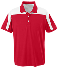 Mechanicville High School Red Raiders Team 365 Colorblock Polo