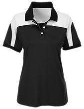 Washburn High School Cardinals Team 365 Ladies Colorblock Polo