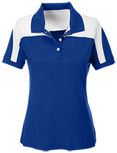 Roosevelt Sixth Grade School Falcons Team 365 Ladies Colorblock Polo