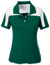Harlan Elementary School Hawks Team 365 Ladies Colorblock Polo