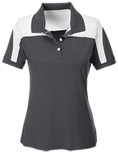 A H Parker High School Bison Team 365 Ladies Colorblock Polo