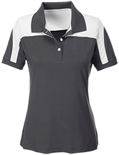 Bunker R-III School Eagles Team 365 Ladies Colorblock Polo