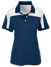 White Plains High School Wildcats Team 365 Ladies Colorblock Polo