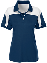 Central Special School Dolphins Team 365 Ladies Colorblock Polo
