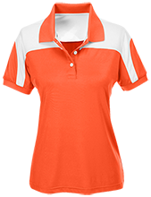 Draper Middle School Warriors Team 365 Ladies Colorblock Polo