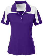 Patterson Elementary School Panthers Team 365 Ladies Colorblock Polo