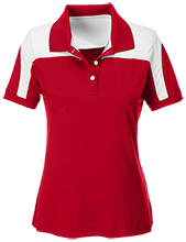 Crossroads Christian School Cougars Team 365 Ladies Colorblock Polo