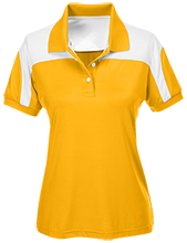 Skyvue Elementary School Golden Hawks Team 365 Ladies Colorblock Polo