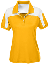 Liberty Christian Academy Eagles Team 365 Ladies Colorblock Polo