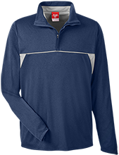 Wells Middle School Roadrunners Team 365 Men's Heather Performance Lightweight 1/4 Zip