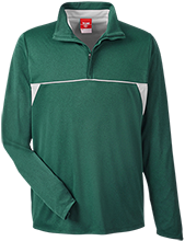 Greenfield High School Green Wave Team 365 Men's Heather Performance Lightweight 1/4 Zip