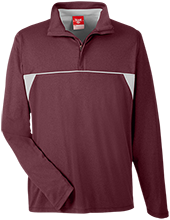Milford Christian School Conquerors Team 365 Men's Heather Performance Lightweight 1/4 Zip