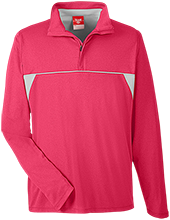 Johannesburg-Lewiston Schools Cardinals Team 365 Men's Heather Performance Lightweight 1/4 Zip