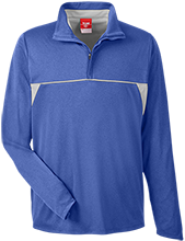 Montgomery C Smith Middle School Hawks Team 365 Men's Heather Performance Lightweight 1/4 Zip