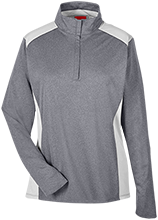 Booth Middle School Warriors Team 365 Ladies Heather Performance Lightweight 1/4 Zip