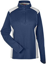 Seward High School Bluejays Team 365 Ladies Heather Performance Lightweight 1/4 Zip